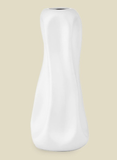 Cemile Mat Beyaz Modern Karanfıllık Beyaz
